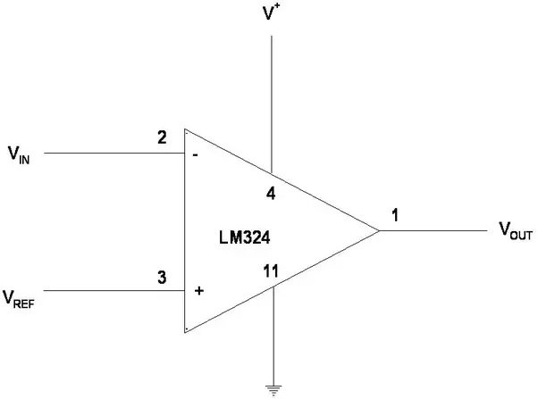 How To Connect A Lm324 Ic As A Comparator Circuit Quora