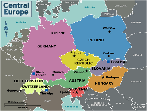 Which countries are Central Europe and which are Eastern ...
