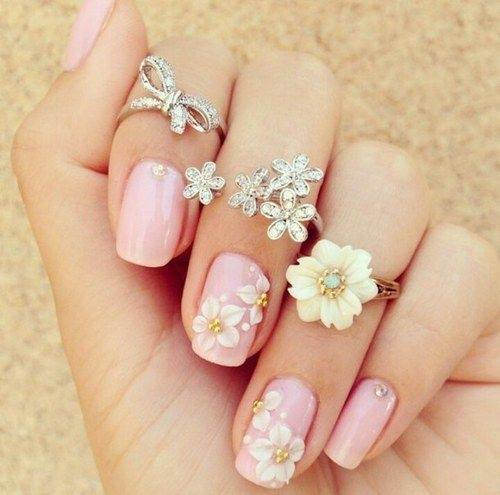 2. Cute Pink Manicure - What Are Some Good Nail Designs For Short Nails? - Quora