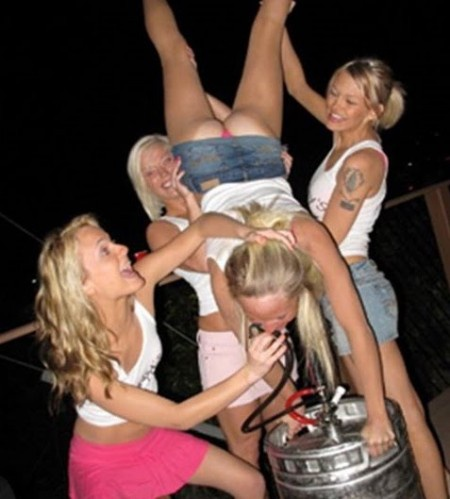 drunk college girl party