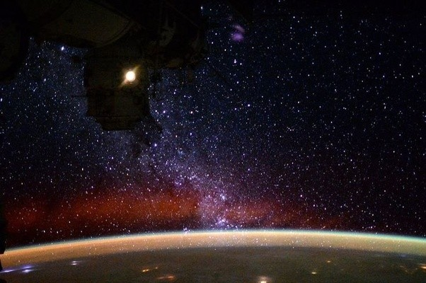 astronaut in outer space observe sky as -#main