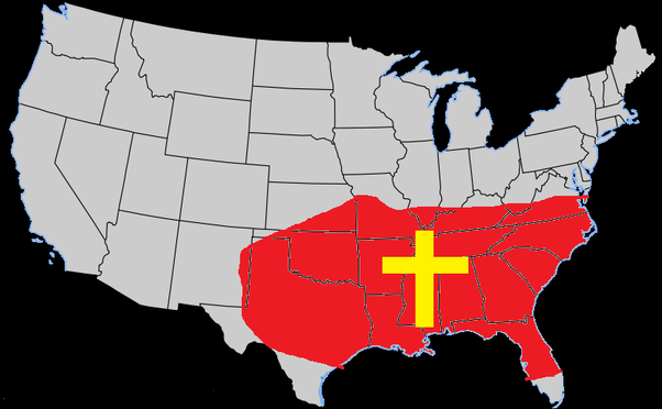 What states make up the 'Bible Belt'? - Quora