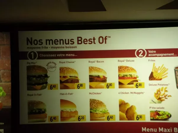 do they really have a royale with cheese on the mcdonald s menu in