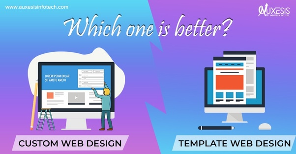 What Is Difference Between Custom Web Design Template Web