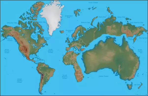 Is australia much bigger than it appears on the map quora aww yeh looks about right should still shrink greenland though and canada and europe and russia we should also make south america and africa bigger gumiabroncs Choice Image