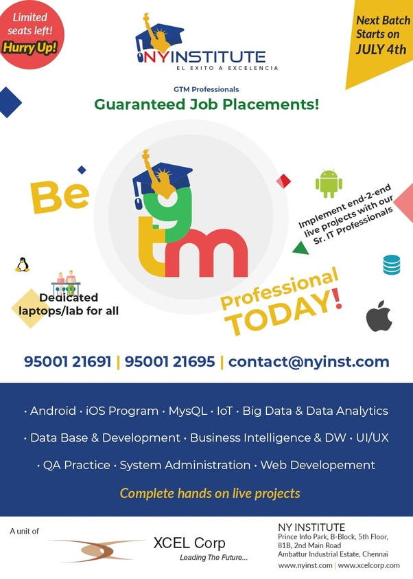 Which company provides training and Job in software