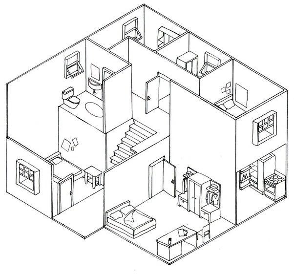 what is isometric drawing quora rh quora com Isometric Water Pipe Diagram Isometric Architecture Diagrams