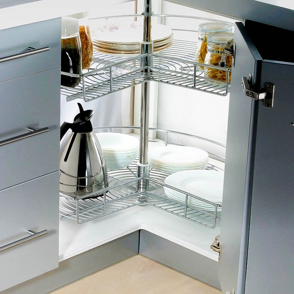 What are my storage options in corner base cabinets when ...