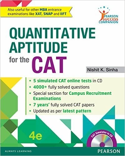 What are the section wise best books to prepare for cat quora 3 quantitative aptitude for the cat by nishit sinha fandeluxe Image collections