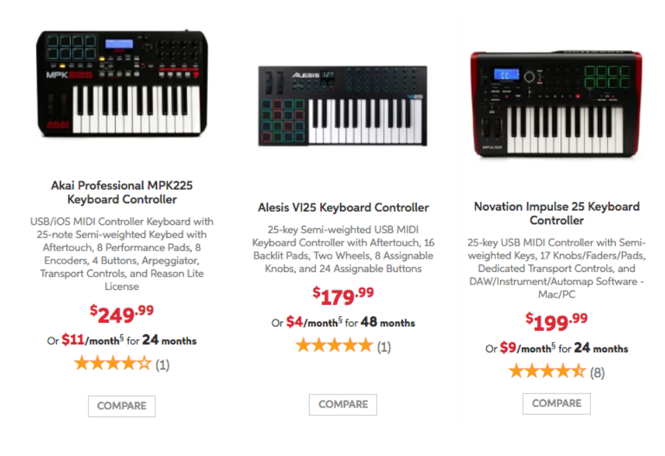 What is the best small MIDI controller with weighted keys? - Quora