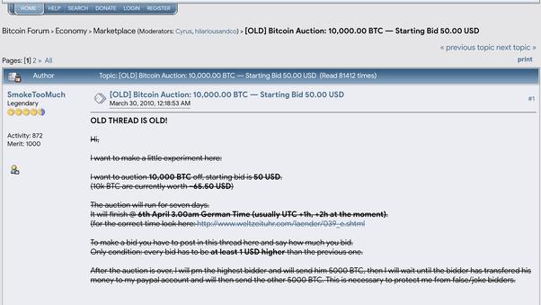 Bitcoin marketplace forum