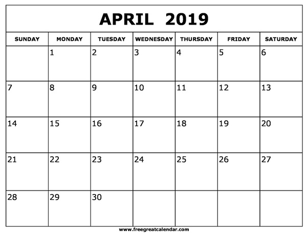 Obsessed image throughout april calender printable