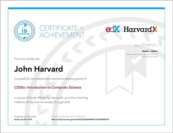 are edx certificates valuable in placements? - quora