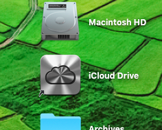 how to create icloud folder on mac