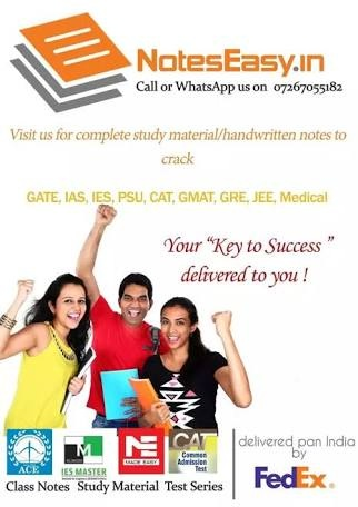 Where can I download all notes for GATE and IES examinations