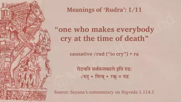 Is rudra a good name for baby boy quora 1 one who makes everybody cry at the time of death causative rud to cry ra negle Image collections