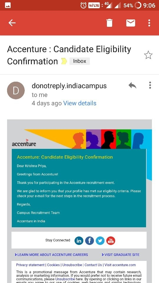 Has anyone gotten their offer letter for Accenture held at Chennai