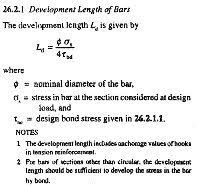 What is the formula for development length of steel? - Quora