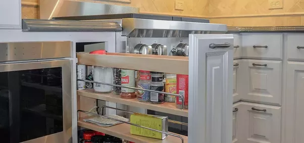 Simple And Organised Cabinets And Drawers In Colours That Match Your Kitchen  Theme Are Clever And Stylish Solutions In Storing Important Kitchen Items  Like ...