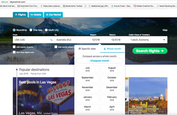 a choice you might look at is going to skyscanner and selecting the whole month from anywhere in the usa to anywhere in australia - What Month Is Christmas In Australia
