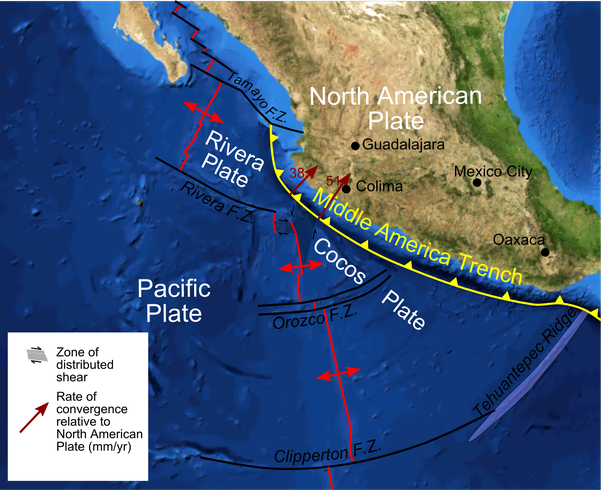 Were the tectonic plates under the mexican earthquake last night the cocos plate a remnant of the farallon plate is separated from the pacific plate by the east pacific rise which is forcing the cocos plate to subduct publicscrutiny Choice Image