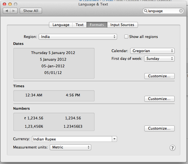 how to change excel language mac