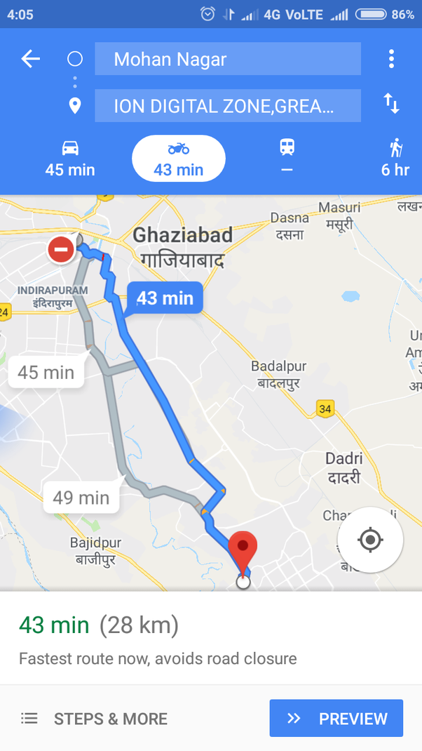 What is the best route from Mohan Nagar to Ion Digital Zone Knowledge Park  3 in Greater Noida? - Quora