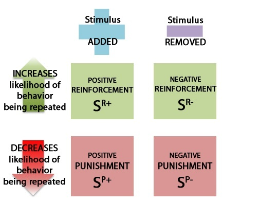 positive reinforcement Examples and difference between positive and negative reinforcement, and comparison with punishment.