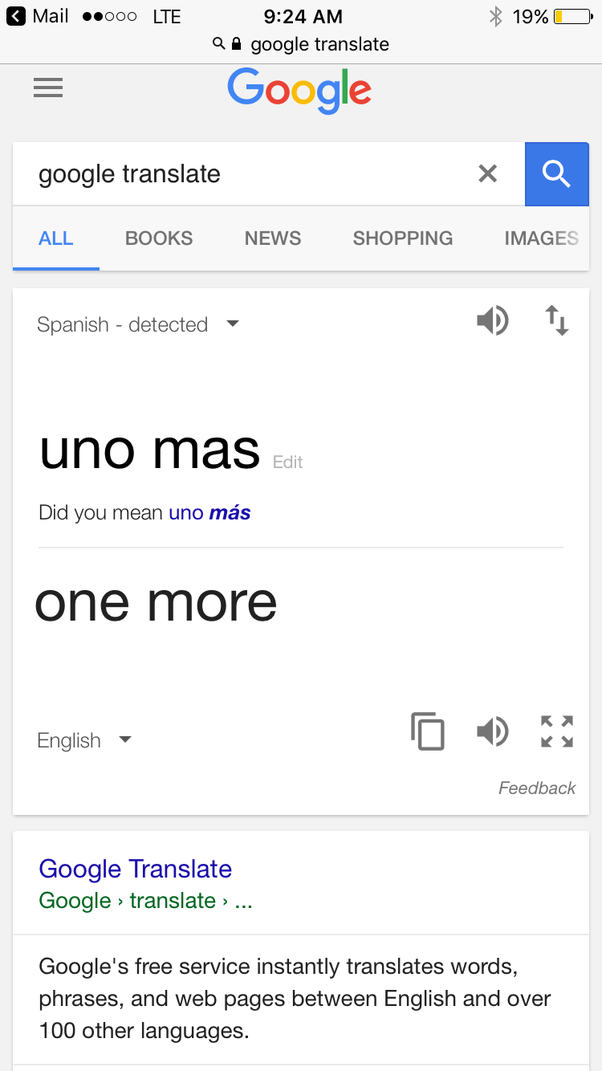 What does the spanish uno mas mean in english quora you can translate anything from anywhere and google will tell you the best translation of the words that you type into it see solutioingenieria Images
