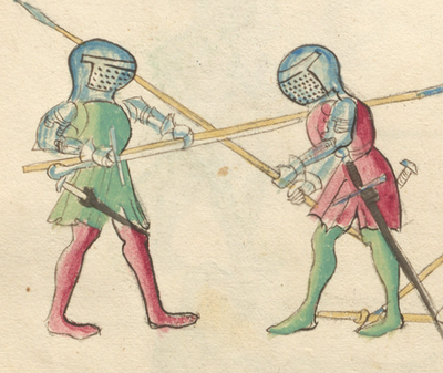 Could a person practically wield both a spear and a sword at