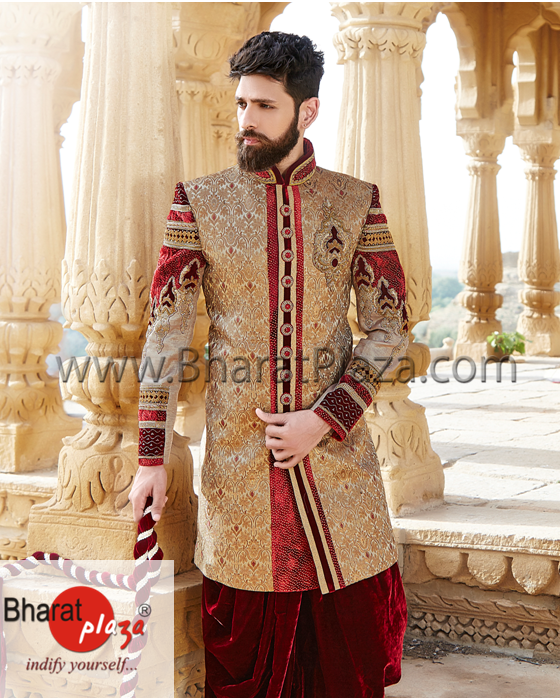 What colours are best for a groom sherwani? - Quora