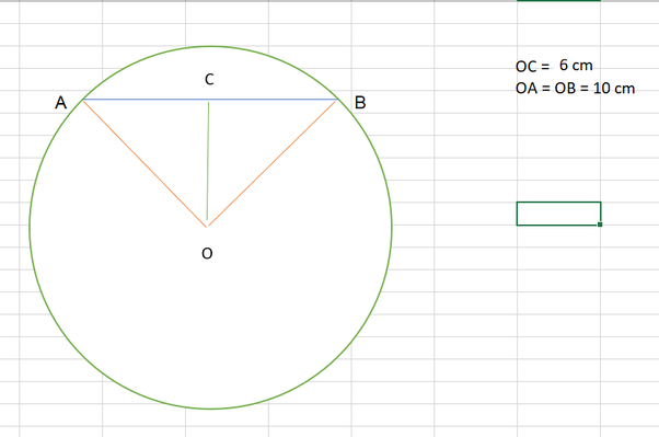 A Chord Is 16cm From The Center Of A Circle With Radius 10 Cm What