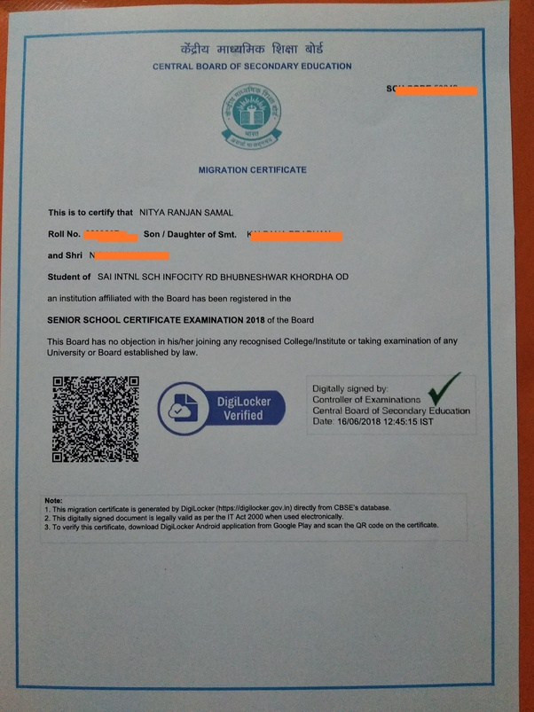 What is the process of getting a new migration certificate from CBSE ...