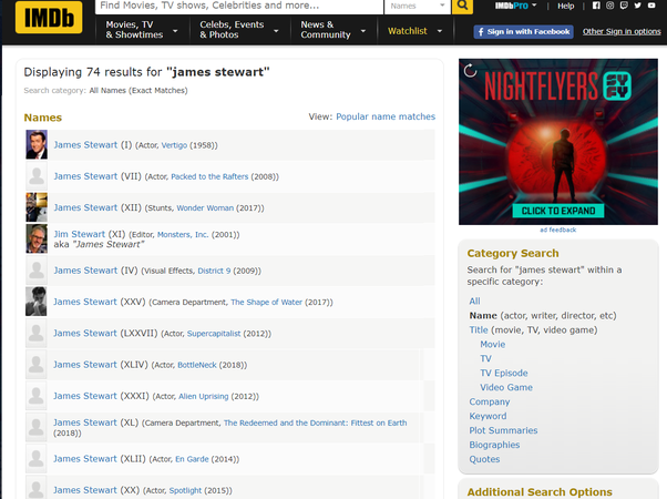 What does it mean on imdb com when they show the dates that