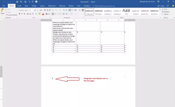 how to delete the last page in word 2007