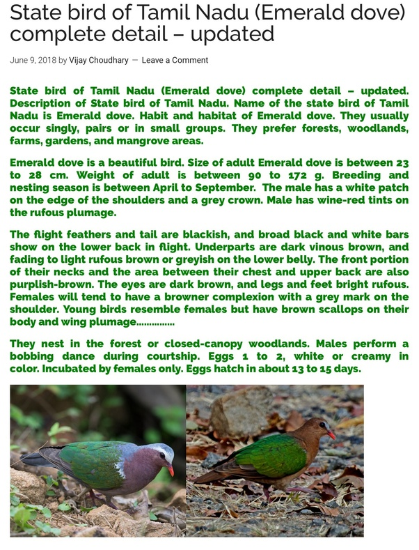 What Is The State Bird Of Tamil Nadu And Why Quora