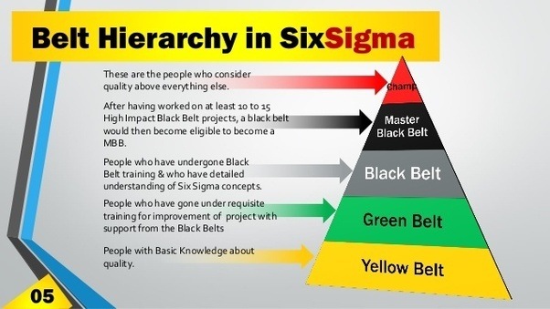 what are the belts in six sigma? - quora
