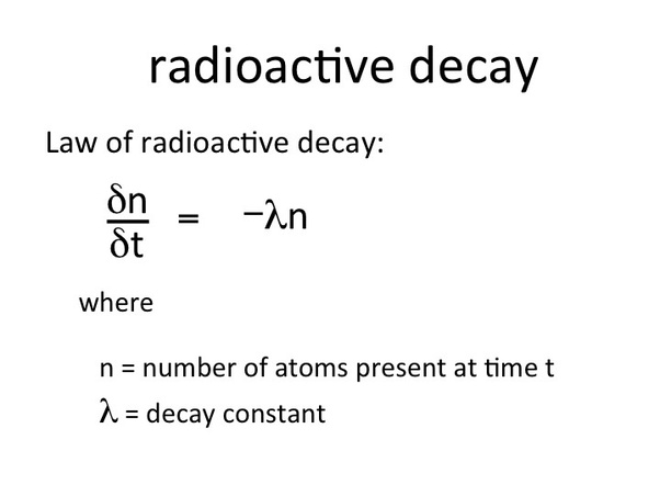 what is decay constant whether it has same value for all radioactive element quora