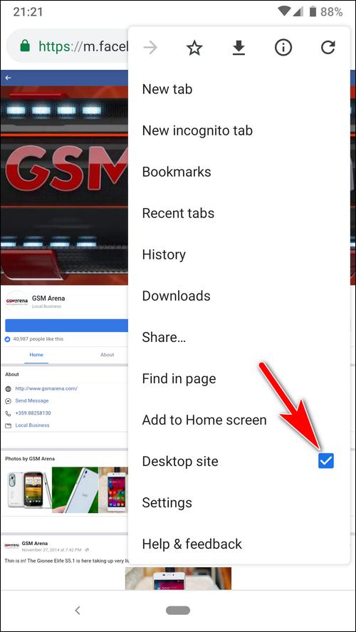 facebook desktop site iphone link