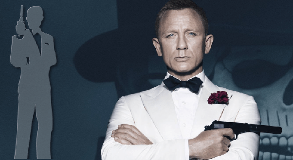 What kind of musical features do all the Bond film theme