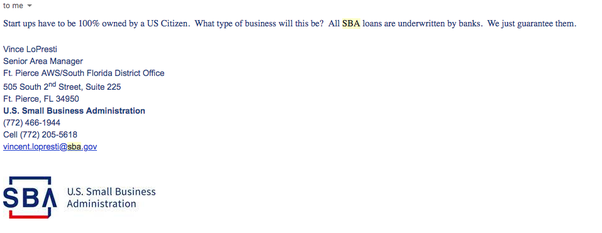 Can a non-US citizen apply for any kind of SBA loan after