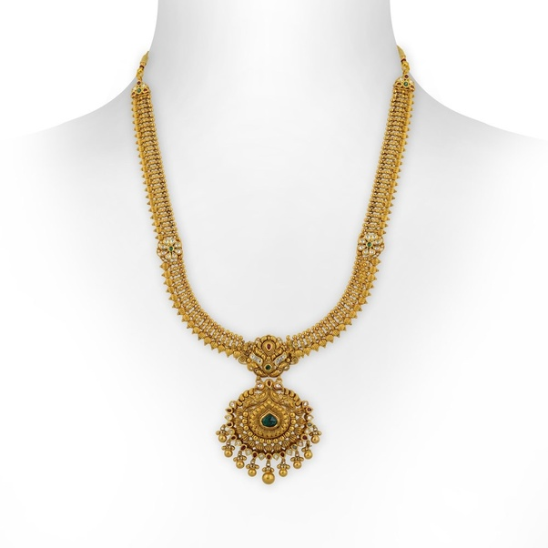 necklace temple necklaces jewellery purchase bridal laxmi large collections set long designs shopping online hayagi