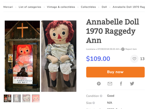 Why didn't the creators of the Annabelle movie use a doll that looks