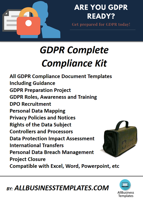 Where Can I Get A GDPR Implementation Document Templates Toolkit - Free gdpr templates