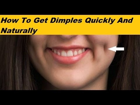 how to make dimple on cheeks
