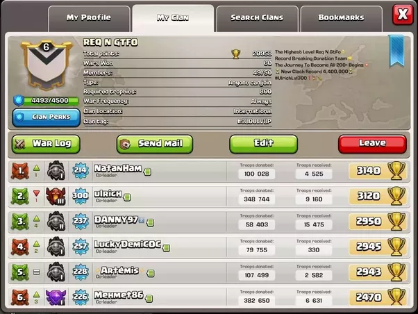 what is the best clan name in clash of clans to get people to join