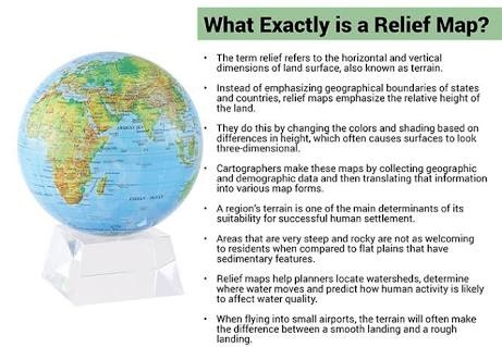 What does relief mean in geography Quora