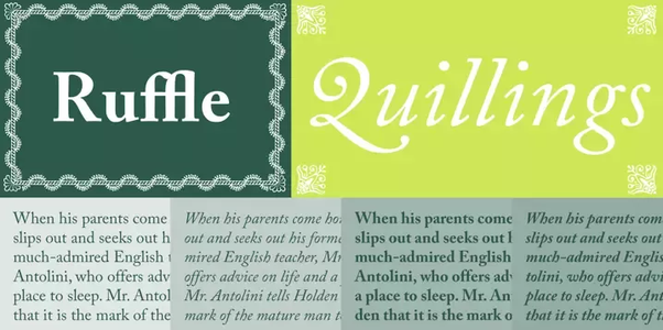 What are some fonts similar to the Caslon font? - Quora