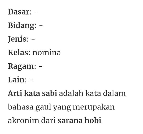Apa Yang Dimaksud Sabi Dalam Bahasa Gaul Quora