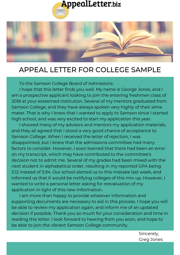 How to write an appeal letter for secondary school admission